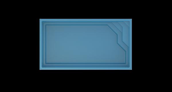 COMPASS Briliant 66 Ceramic Pool 6,62m x 3,62m x 1,40m