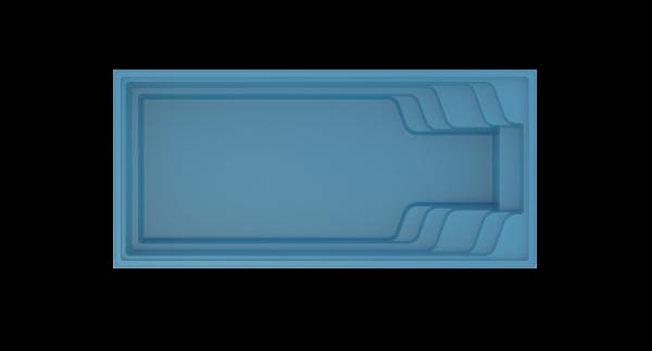 COMPASS Elegant-Max 80 Ceramic Pool 8,00m x 3,70m x 1,50m